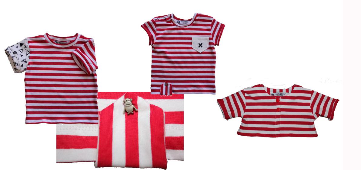 Shortish ropa para niños molones camisetas
