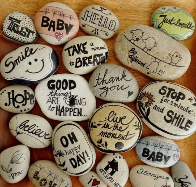 Frases en piedras