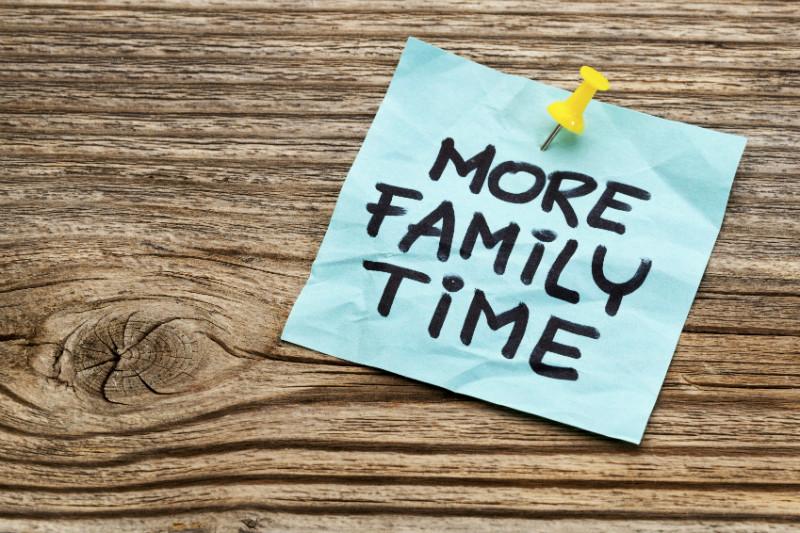 más tiempo en familia menos deberes
