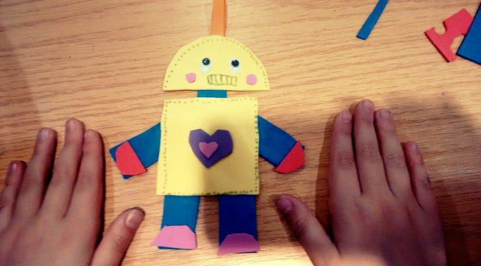 llavero robot día del padre