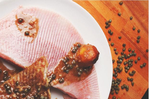 La tasquita de enfrente pez raya a la mantequilla negra