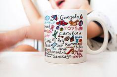 regalos para profesores taza con nombres