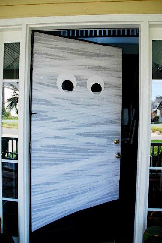 decoración de Halloween puertas