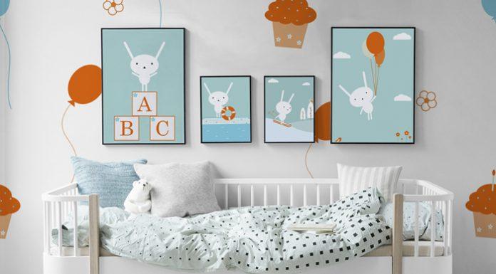pixers habitación bebé con cuadros