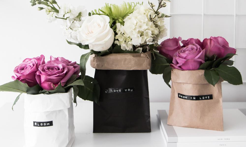 minibouquet de flores en bolsa