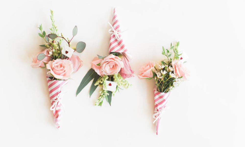 minibouquet de flores por San Valentín