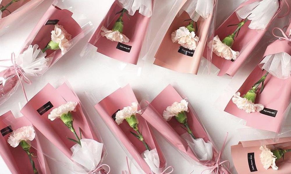 minibouquet de flores claveles