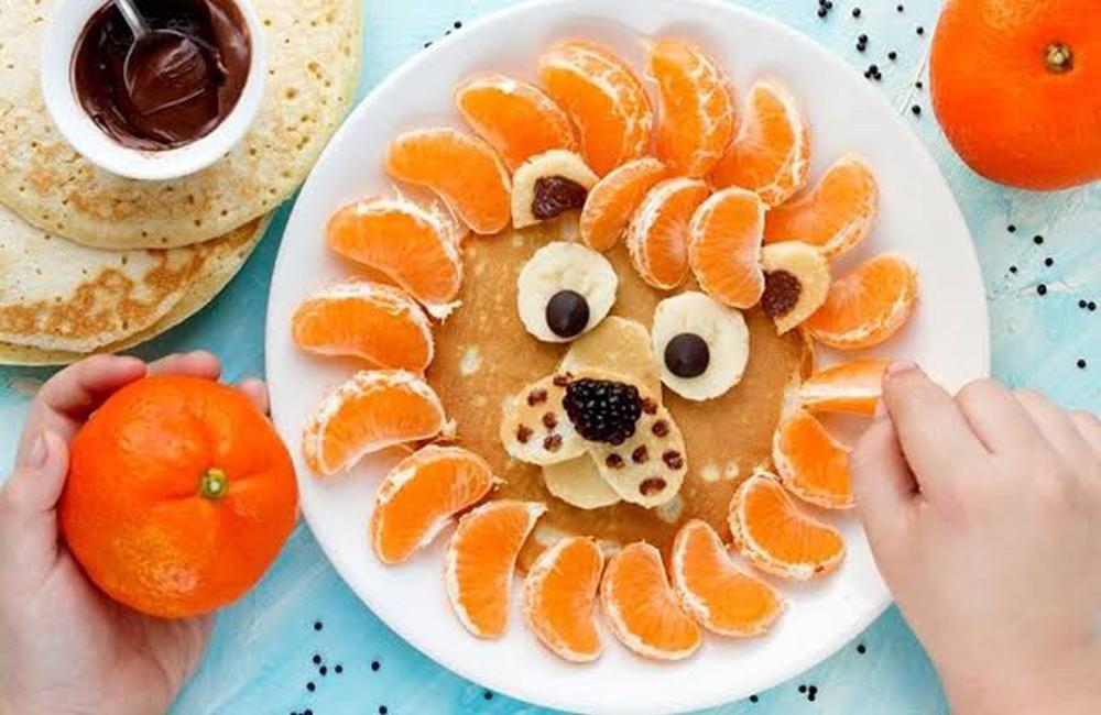 tortitas divertidas con fruta