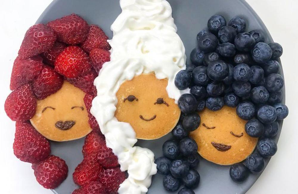 tortitas divertidas con pelucas